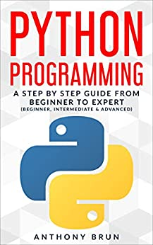 Python Programming: A Step By Step Guide From Beginner To Expert (Beginner, Intermediate & Advanced) by [Brun, Anthony]