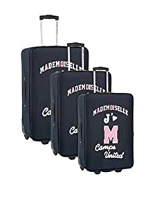 Camps - Ensemble de 3 valises chariot extensibles Camps Mademoiselle