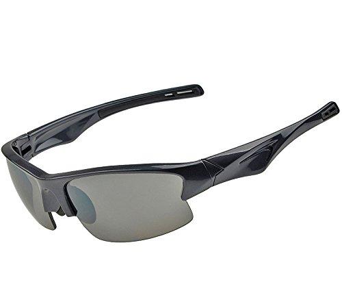 ZHIYIJIA Herren Sportbrille Sonnenbrille Polarisierte UV schützen Blendfrei für Autofahren Radfahren Laufen Angeln Golf