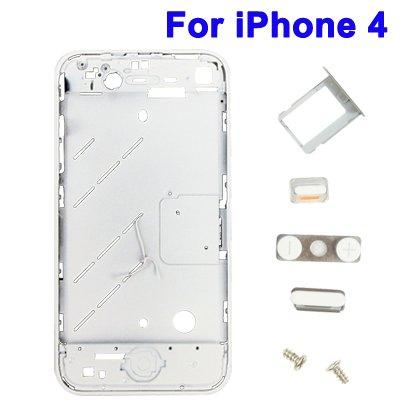 Serie Taste-board (Kit Verarbeitung Rahmen Middle Board + Serie Tasten und SIM T für iPhone 4weiß)