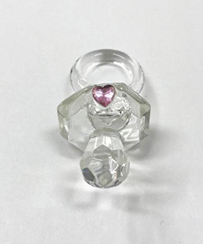 Takestop® Juego 20Piezas BOMBONIERA Bomboniere Chupete Rosa Cristal Cristal CiucciOtto bautizo Baby Niña Niña Decoración Nacimiento