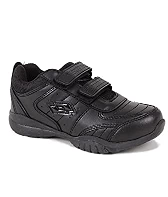 Lotto Kid's Black Velcro School Shoe (Eur 34)