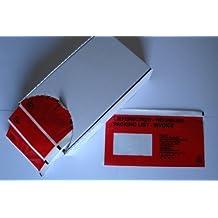 """250 Dokumententaschen DIN lang """"Lieferschein/Rechnung"""" 13-sprachig Gr. 240x115+15mm in der Spendebox"""