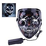 Mallalah Maschera di Halloween LED Light Up Maschera maschera per costumi di partito Maschere per adulti...