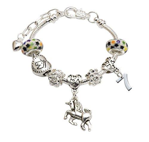 47d9ed299cbdc Jewellery Hut Girl' s Unicorn Birthday Fascino Braccialetto con Scatola  Regalo - Ages 1-11 Disponibili e Placcato Argento, Colore: Silver, cod. ...