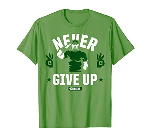 WWE John Cena Never Give Up Salute T-Shirt - John Cena T-shirts