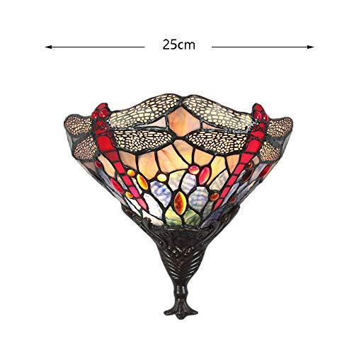 Art-Libellen-Wandleuchte einfacher kreativer einzelner Kopf Farbiger Glaslampenschirm-Innenbeleuchtung Wohnzimmer Schlafzimmer Studie Eingangs-Villa-Befestigung 220 / 240W ()