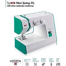 Alfa Hogar Maquina De Coser Next 30 Spring Zig-Zag.Domestica, Verde Esmeralda