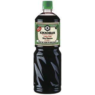 Kikkoman Soja-Sauce salzreduziert, natürlich gebraut - 1L - 2x
