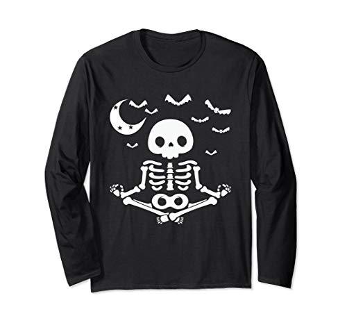 Skelett Kostüm Jack - Lustig Halloween Kostüm Geschenk Skelett Yoga Meditation Langarmshirt