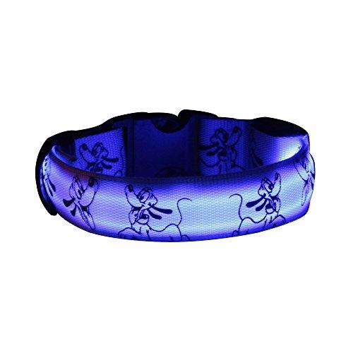 D Hundehalsband Sicherheits Leuchthalsband Blinkendes Licht Haustier Halsbänder 3 Leucht-Modi Größe S--Blau (Camo Hochzeit Zubehör)