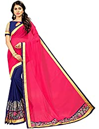 a89df7b89e Ruchika Fashion Embroidered, Embellished Fashion Georgette Saree (Pink,  Blue)