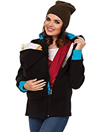Zeta Ville - Sudadera capucha portabebé bolsillo funcional - para mujer - 032c