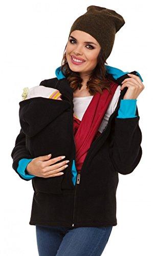 Foto de Zeta Ville - Sudadera capucha portabebé bolsillo funcional - para mujer - 032c (Negro, EU 42/44, XL)