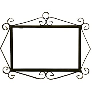 Black iron frame for easy wall hanging for tiles MOSAICO MEDIANO and FLOR MEDIANO designs (Frame for 3 TILES) 8.66 '' x 6.50 '' by Art Escudellers