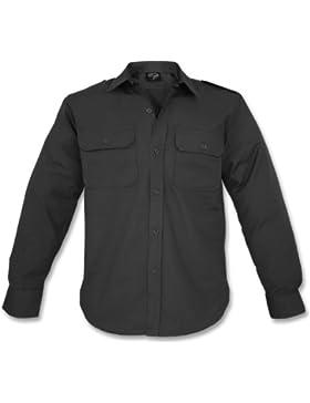 Mil-Tec RipStop Camicia manica lunga Nero