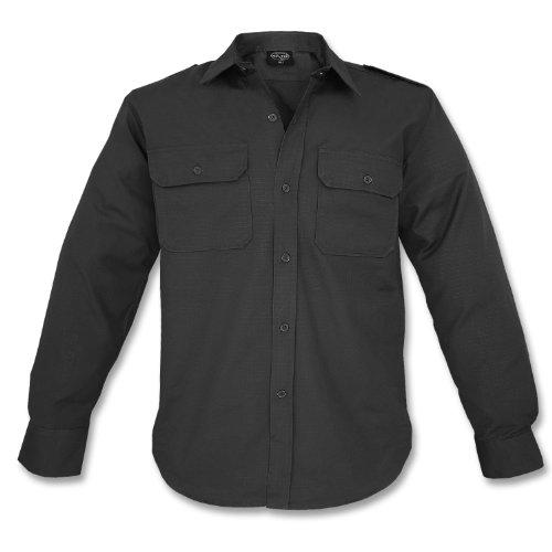 Mil-tec ripstop camicia manica lunga nero taglia 3xl