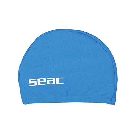 Seac 1520026160024a, cuffia nuoto da piscina per bambini in tessuto unisex, blu, small