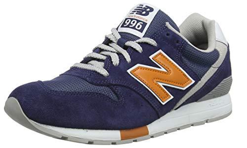 New Balance Herren 996 Sneaker, Türkis Indigo/Vintage Orange Wn, 44.5 EU