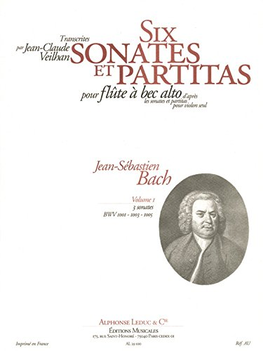 J.S. Bach: Violin Sonatas & Partitas Arr. for Treble Recorder Solo - Volume 1