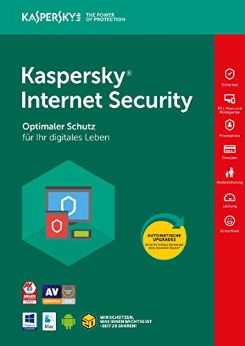 Kaspersky Internet Security | Neu: 2018 | 3 Geräte | 1 Jahr | Aktivierungscode & Datenrettung by EaseUS CD-ROM