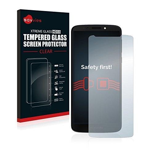 Savvies Panzerglas kompatibel mit Motorola Moto G6 Play - Echtglas Schutzfolie 9H