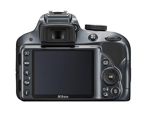 Nikon D3300Kit digitale Spiegelreflexkamera, 24.2Megapixel, LCD 3Zoll, SD 8GB 200x Premium Lexar, Schwarz [Nital Card: 4Jahre Garantie] - 2