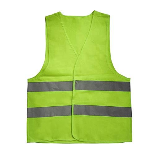 Reflektive Warngefäß Arbeitskleidung Warnschutzweste Tag Nacht für Laufen Radfahren Verkehrssicherheit - Gelb XXL Traffic Safety Vest