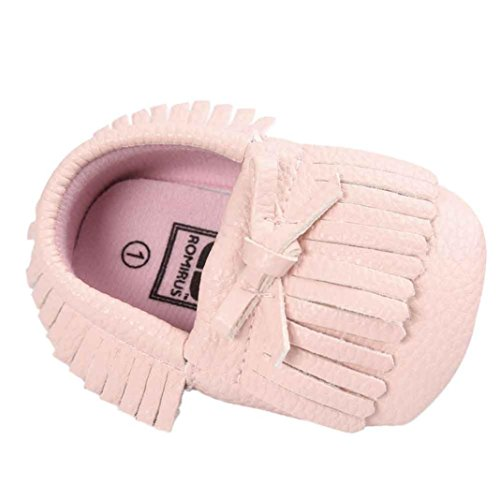 Ouneed® 0-18 mois Bebe Velcro Mary Jane Pu Cuir Princess Chaussures (13, Rose a) Rose a