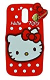 Cool & Creative Cute Hello Kitty Back Cover For Moto G5s Plus - Red