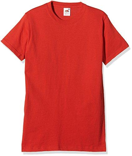 Fruit Of The Loom 61212 Mens Short Sleeve Heavy Cotton T-Shirt Tee, Rot, XXXL - Rot Heavyweight Tee