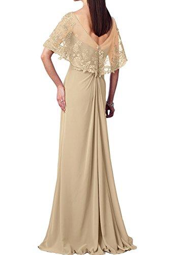 La_Marie Braut Burgundy Spitze Elegant v-ausschnitt Abendkleider Ballkleider Chiffon Brautmutterkleider Bodenlang Flieder