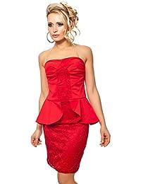 Bandeau Partykleid Minikleid Business Look mit Schößchen