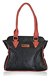 Fantosy Women's Handbag Black and Pink (FNB-604)
