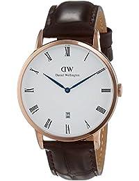 Daniel Wellington Dapper Herren-Armbanduhr Analog Quarz Leder - DW00100085