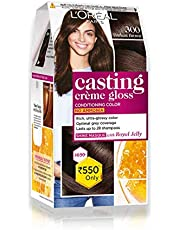L'Oreal Paris Casting Creme Gloss Hair Color, Darkest Brown 300, 87.5g+72ml