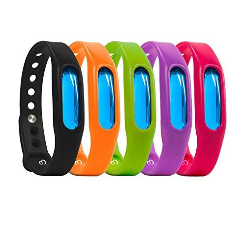 Rekkle 5pcs Anti-Moskito-Plage-Wanzen-Armband-abstoßendes Insekt Silikon-Armband-Armband-zufällige Farbe