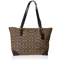 Coach Zip Tote Bag for Women-Monogram