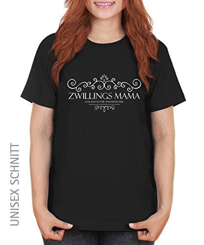 -- Zwillingsmama -- Girls T-Shirt auch im Unisex Schnitt Schwarz
