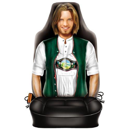 Autositzbezug Mann in Tracht Beifahrer Schonbezug Auto Sitzbezug geil bedruckt und für Seitenairbag geeignet