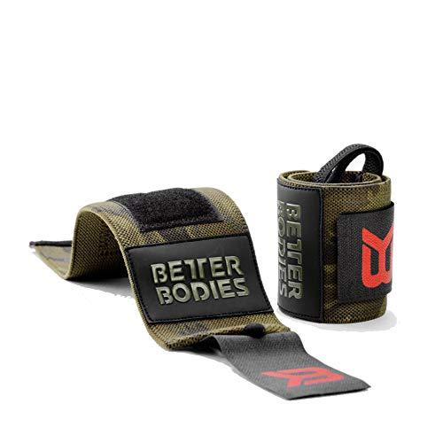 Better Bodies Camo Wrist Wraps Handgelenk-Bandagen, dunkel grün Camouflage, One Size