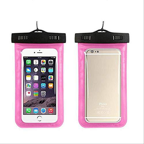 Rentlooncn Berühren Sie Wasserdichten Handy-Taschen-Fall für iPhone 6S Coque-Beutel-Schwimmen-Telefon-Fall-Tauchen-Speicher-Beutel-Beutel-trockene Abdeckungs-Fälle PVC-Rosa (Rosa Gehäuse Für Iphone 4s)