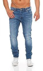 JACK & JONES Tim Original Slim Fit Herren Jeans, Hosengröße:W34/L32, Farbe:Medium Blue