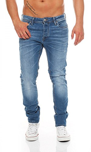 JACK & JONES - TIM ORIGINAL - Medium Blue Wash - Slim Fit - Herren Jeans Hose , Hosengröße:W34/L36 (Hose Wash Denim)