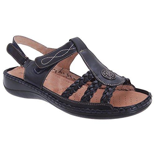 boulevard-womens-ladies-2-way-touch-fastening-halter-back-sandals-7-uk-navy