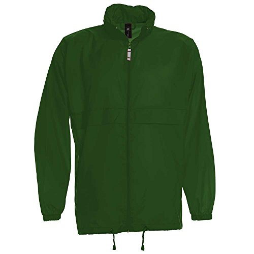 B&C Herren Sirocco The Windbreaker wasserdicht zusammenfaltbar Jacke Bottle Green*