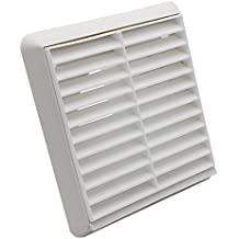 Kair Louvred Air Vent Wall Grille - 100mm Round Spigot - White - SYS-100 - DUCVKC244 by Kair