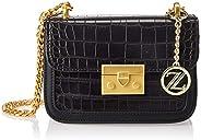 Zeneve London Womens Crossbody Bag, Black - 1197815600