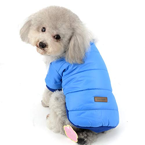 SELMAI Haustier Schneeanzug Winddicht Welpen Parka Warme Fleece Gepolsterte Winterjacke Outwear mit Fellkragen für kleine Hunde und Katzen bei kaltem Wetter Daunen Mäntel Chihuahua Yorkie Outfits Fleece-nylon-parka