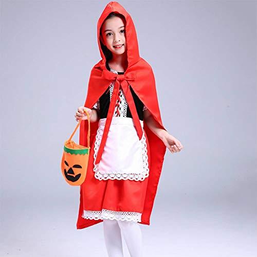 Kostüm Halloween Kälte - GUAN Halloween Cosplay Kinderkostüme Maskerade Kostüme Mädchen Rotkäppchen Prinzessin Kleider